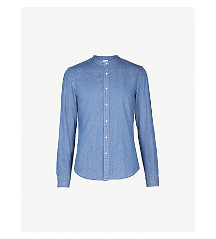 REISS Torque slim-fit denim shirt (Blue