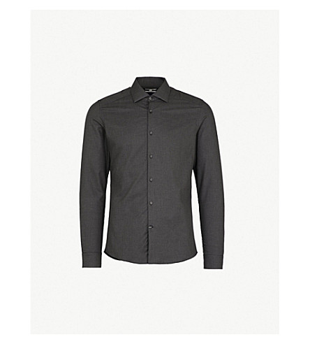 REISS Tucci cotton shirt (Charcoal