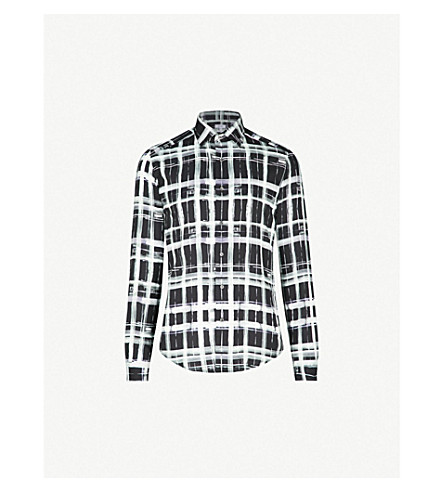 REISS Checked woven shirt (Black