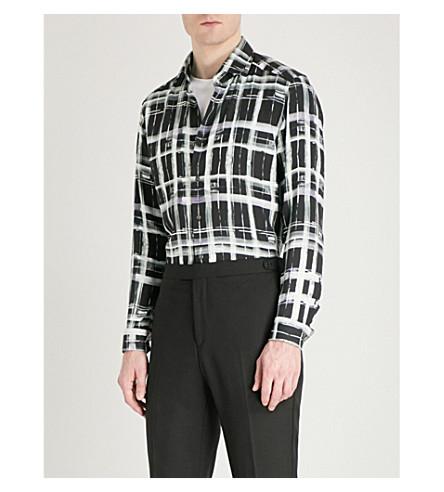 REISS Checked woven shirt (Black