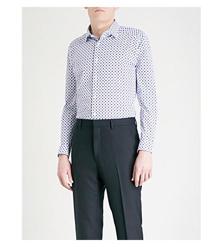 REISS Envoy cotton-poplin shirt (White
