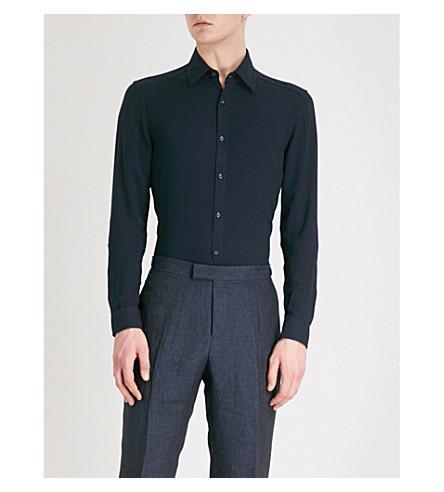 azul fit regular crepé marino Fallen Camisa de UO8w0