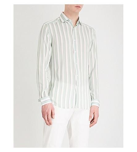 REISS Finnie striped slim-fit woven shirt (Mint