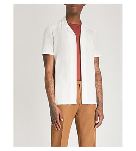 REISS Guyver slim-fit cotton shirt (White