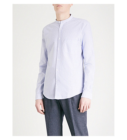 REISS Rex slim-fit cotton shirt (Soft+blue
