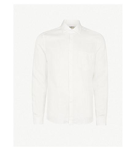 REISS Titan regular-fit woven shirt (Ecru