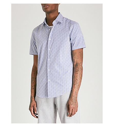REISS Trident slim-fit cotton shirt (Navy