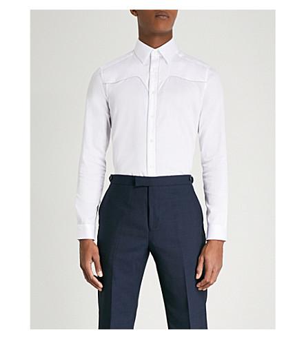 cotton Vanity REISS fit Vanity REISS shirt slim White n1BxRXzx