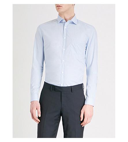 REISS Varsity regular-fit cotton shirt Blue Outlet Discounts View Cheap Online Discount 2018 New MeOq7s14LJ