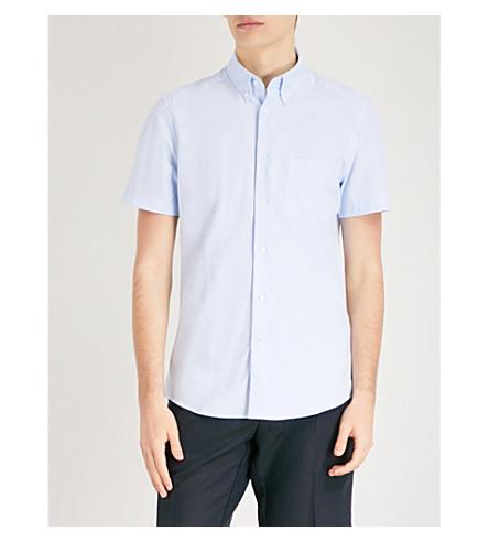 REISS Dunning regular-fit cotton shirt (Soft+blue