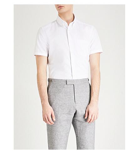 REISS Dunning regular-fit cotton shirt (White