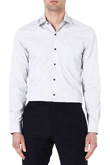 REISS Oliver contrast button shirt