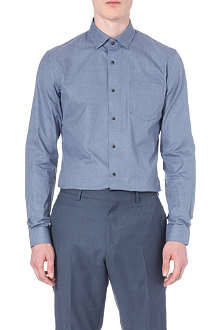 REISS Lockey pin check shirt
