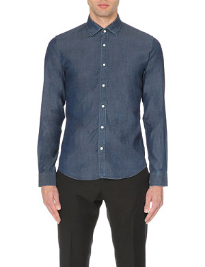 REISS Rhodes slim-fit chambray shirt