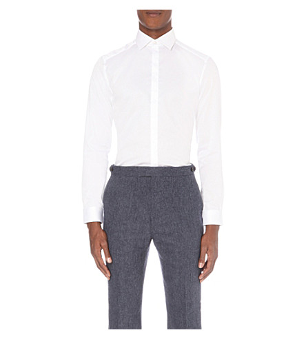 REISS Jupiter slim-fit cotton shirt (White