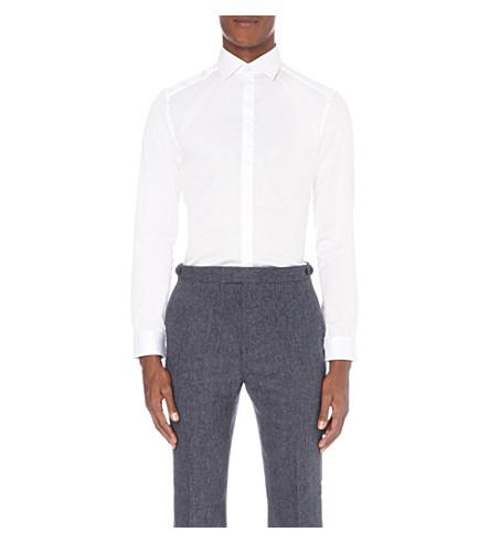REISS Jupiter slim-fit cotton shirt (White