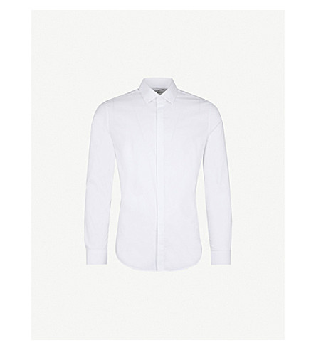 REISS Mauro slim-fit cotton-blend shirt (White
