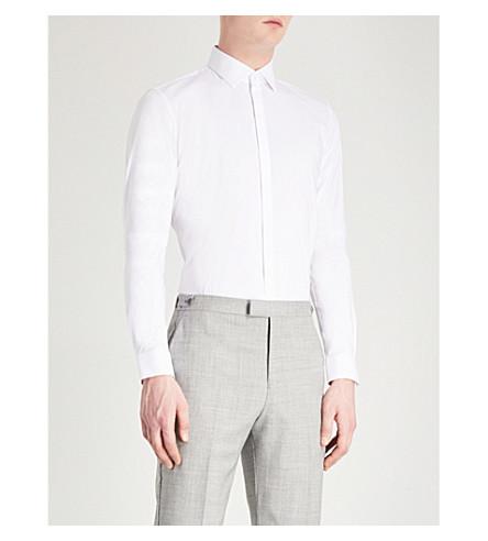 REISS Mauro slim-fit cotton-blend shirt (White