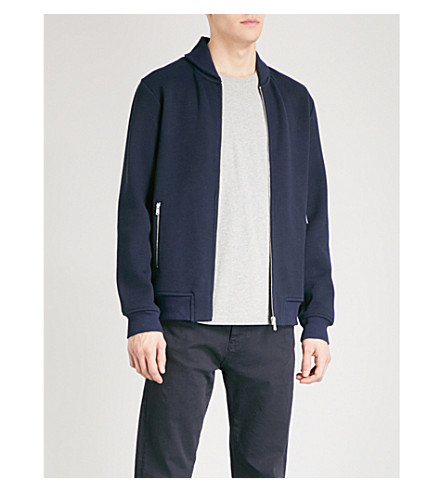 REISS Harold knitted jacket (Navy