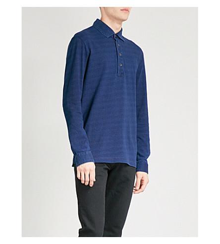 REISS Mitchel cotton-jersey polo shirt (Indigo