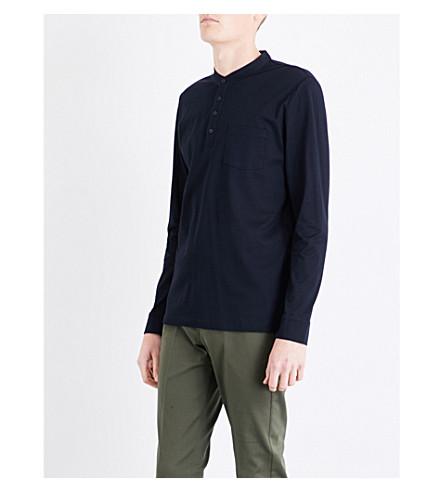 REISS Rothbury cotton-piqué top (Navy