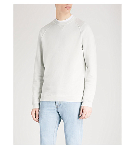 REISS Austin cotton-jersey sweatshirt (Mint