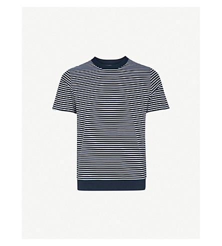REISS Denton striped cotton T-shirt (Navy/white