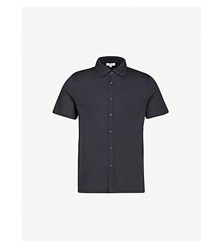 REISS Jeremy regular-fit cotton-piqué shirt (Navy