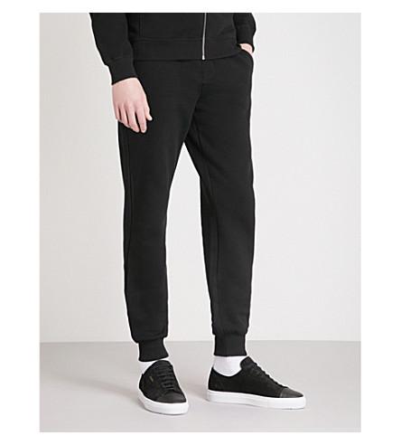 REISS Bodie slim-fit cotton-blend jogging bottoms (Washed+black