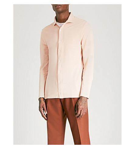 REISS West cotton-piqué polo shirt (Pink