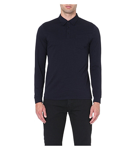 REISS Pablo jersey polo shirt (Navy