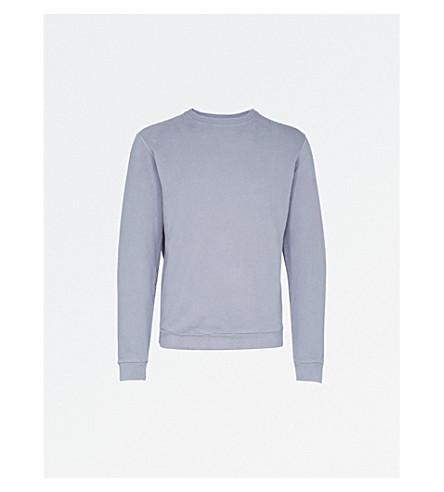 REISS Fenton pure cotton crewneck sweatshirt (Blue+smoke