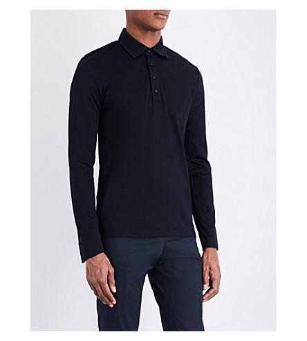 REISS Santi cotton-piqué polo shirt (Navy