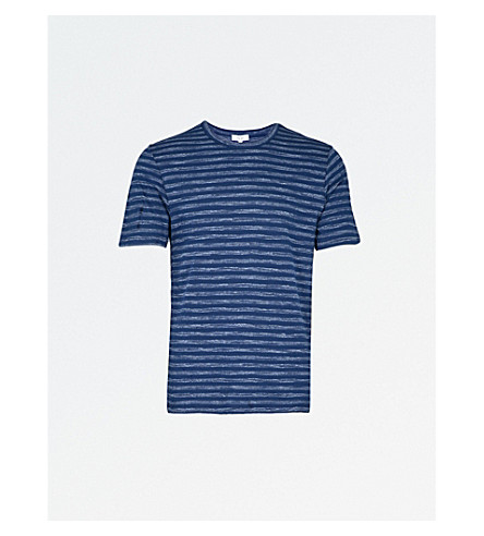 REISS Jamie striped jersey T-shirt (Dark+navy