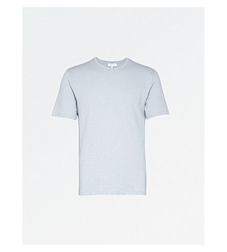 REISS 宝石平纹针织棉 T 恤 (蓝 + 烟