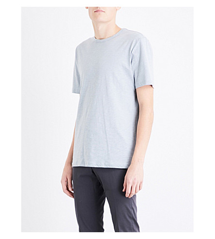 REISS Jewels cotton-jersey T-shirt (Blue+smoke