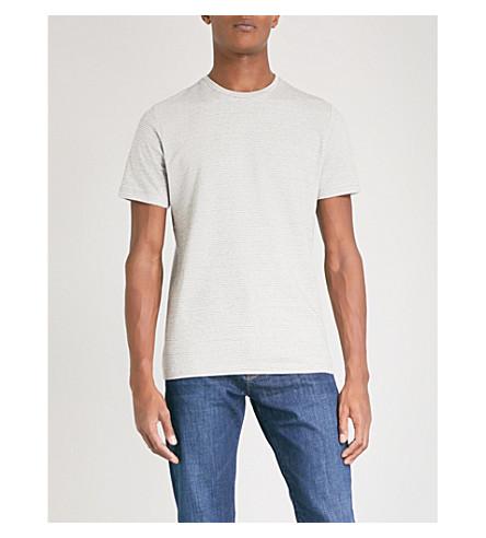 REISS James striped jersey T-shirt (Grey
