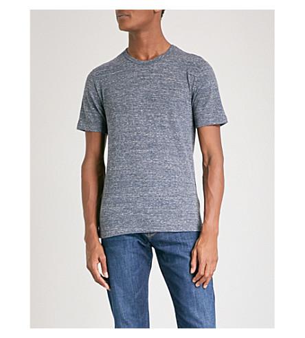 REISS Martin striped jersey T-shirt (Indigo
