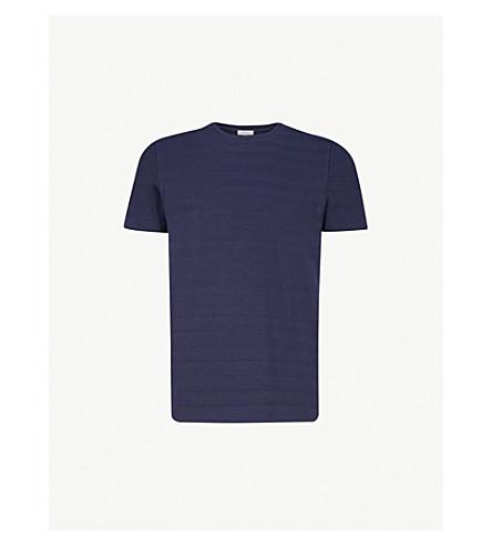 REISS Jerald striped cotton-jersey T-shirt (Navy
