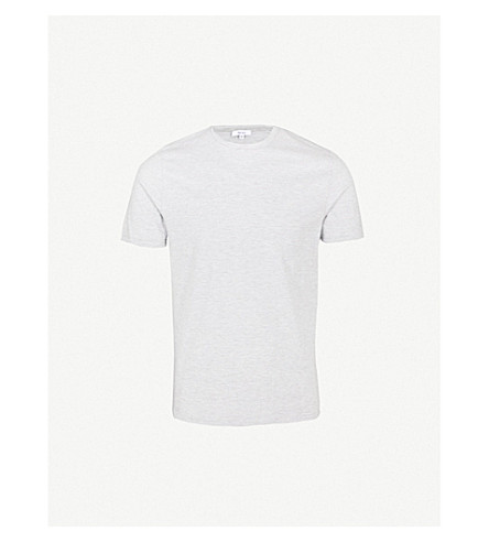 REISS Beck striped cotton-jersey T-shirt (Grey