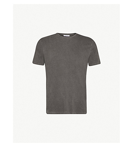 REISS Bertie cotton-jersey T-shirt (Black
