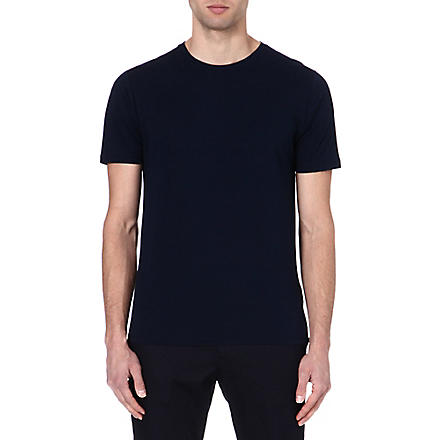 REISS Bless crew-neck t-shirt (Navy