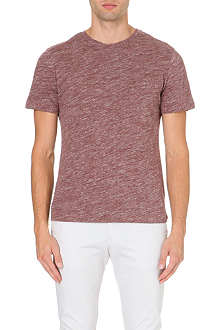 REISS Mayers flecked t-shirt