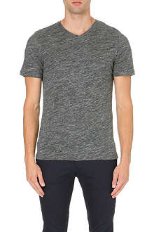 REISS Perri v-neck flecked t-shirt