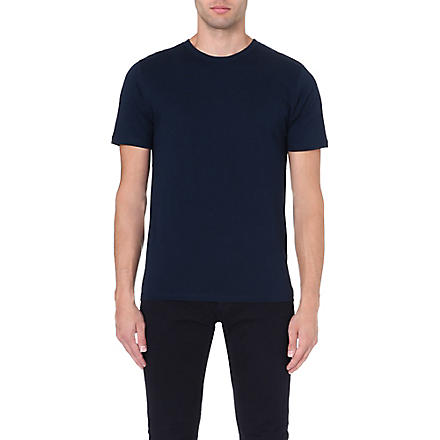 REISS Bless basic crew-neck t-shirt (Navy