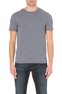 REISS Dazzler geo-print t-shirt