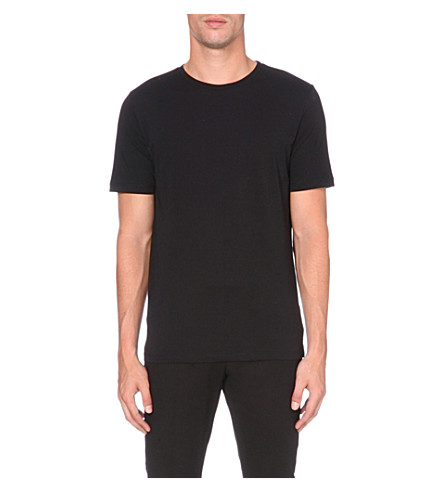 REISS Bless cotton-jersey t-shirt (Black