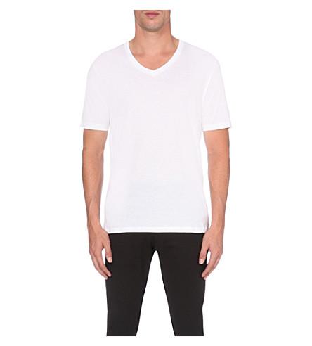 en camiseta REISS cuello pico camiseta con algodón Dayton blanca de xRwSqTPBvw