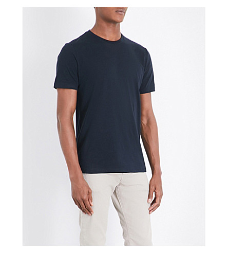 REISS Bless cotton-jersey T-shirt (Navy
