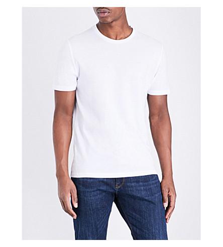 camiseta Bless jersey blanca algodón de REISS Hq5xwS76w